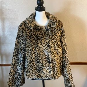 American Eagle Leopard Fur Coat